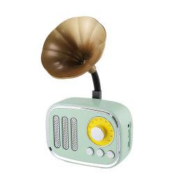 Dente azul retro novo dom criativo PC sem fio Mini placa Subwoofer Rádio Altifalante do Telefone