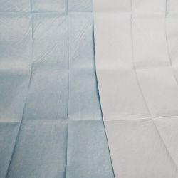 Absorventes hidrofílico película PE estratificados Spunlace Nonwoven Fabric para o lençol de despolir