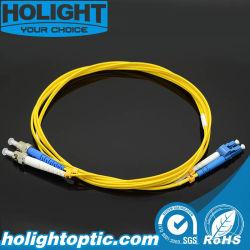 St vers LC Fibre Sm Dx 2.0mm cordon de raccordement avec adaptateur à fibre optique