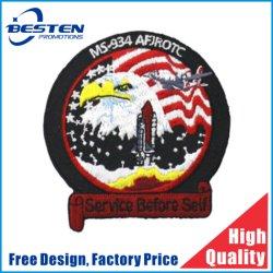 Design em formato personalizado Logotipo Militar Ferro em Bordados Patches para roupas