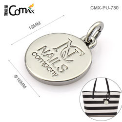 Kleine personifizierte Schwingen-Metalfall-Marken, kundenspezifische runde Form mit gravierten Firmenzeichen-Marken für Handtaschen-Gepäck