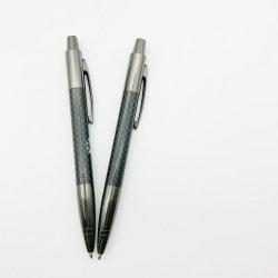 La penna del gel del metallo del rullo della fibra del carbonio con progetta