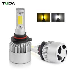 Scheinwerfer H7 H4 LED Großhandelsder automobil-S2 Auto-Kopf-der Glühlampe-H7 16000lm H11 9005 Selbstauto-Doppelder farben-LED
