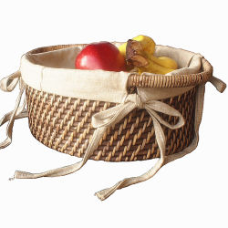 Rattan-Weaved ecológica de almacenamiento de la canasta de mimbre cesta de frutas naturales Sauce