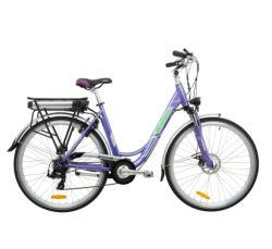 محرك محور دمج الدراجات الإلكترونية Lady City E-Bike ذو الشعبية الرائعة بقدرة 27.5 بوصة و36 فولت بقدرة 250 وات