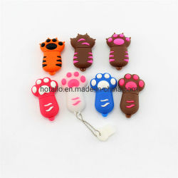 Platte-Bären-Tatze netter der Karikatur-Katze-Greifer USB-Platte-Katze-Greifer-reine Farben-U, die volle Kapazität USB-Laufwerk formt