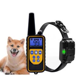 طوق تدريب الكلاب كهربائي مقاوم للمياه، 800 م قابل لإعادة الشحن للتحكم عن بعد بالحيوانات الأليفة مع شاشة LCD