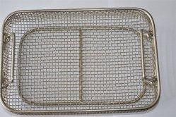 長方形のステンレス鋼の金網のバスケット