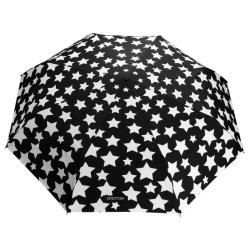 Ombrello antivento della vetroresina, colore con acqua, disegno nero dei cambiamenti della stella
