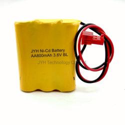 AA800-B3 Custom Pack de batterie Ni-CD Cellule rechargeables AA800 pour voyant LED