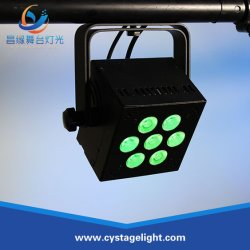7*12W Wireless/DMX 통제 RGBW+a+UV 6in1 LED 동위 무대 효과 점화