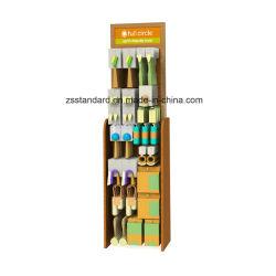 Étage Cuisine Stand d'exposition permanente de l'outil de bois MDF Ustensiles de cuisine Présentoir avec crochet