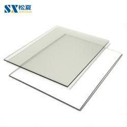 UV clair recouvert de feuille de miroir en polycarbonate solide plat
