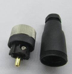 La Circulaire d'automatisation M12 mâle 4 broches du connecteur du capteur Aviatation Bouchon en plastique
