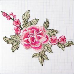وردة ملونة للزهور ثلاثية الأبعاد مخصصة لزينة الجدار الطلاء