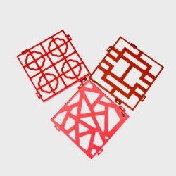 Travail Through-Carved PLACAGE des panneaux de construction en aluminium avec revêtement en polyester 1.5mm