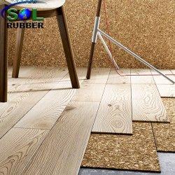 吸音力の床の音響の下敷きに床を張るコルク