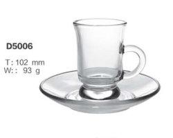 Forte de vidro transparente Chá Caneca caneca de café Espresso Cup Definido