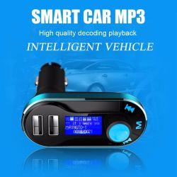 3 em 1 Kit para carro Universal leitor MP3 Transmissor FM Modulador veicular sem fio pausa rádio 2 carregador de automóvel USB + Controle Remoto Bt66
