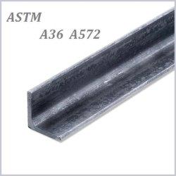 Galvanizado a la norma ASTM A572 Gr50 GR60 A36 en forma de L de acero perforado de ms de ángulo ranurado de la barra de la barra de hierro