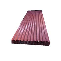 建築材料PPGIはタイルカラーガーナの亜鉛によって塗られた屋根のシートPrepainted電流を通された波形の鋼鉄金属板の屋根ふきシートを艶をかけた
