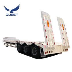 3車軸半80トンの頑丈なGooseneckの掘削機の輸送のための低いローダーまたはLowbed/Lowboyの低いベッドのトレーラトラックのトレーラー