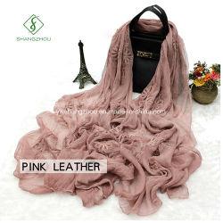2017 Dama de alta qualidade moda lenço de seda com Xale bordados