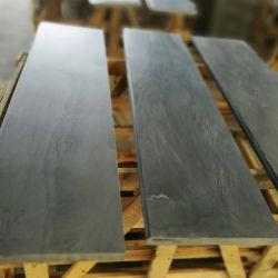 La superficie de pulido de pizarra gris natural para la envolvente de la ventana