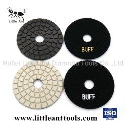 """4 """" /100mmの淡黄色のダイヤモンドの研摩のハードウェアは石のためのぬれた磨くパッドの粉砕のディスクに用具を使う"""