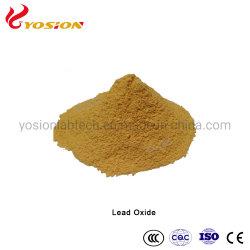 Jaune/Rouge oxyde de plomb/ Litharge /Pbo/Composant de plomb-acide