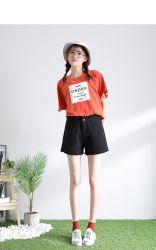 Ralingue rugueux multicolore de femmes occasionnel Denim Jeans Shorts