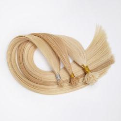 De Spijker van de keratine/het Vlakke/Uiteinde van de Stok/Nano Uitbreidingen van het Haar van de Ring 100% Echt Getrokken Dubbel van het Haar van de Hoogste Kwaliteit van de Blonde van het Menselijke Haar Remy Recht of Enig Getrokken Haar