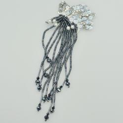 Paillettes et perles perles Tassel Patches embellissements