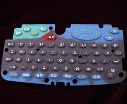 Clavier en caoutchouc de silicone conducteur personnalisés/clavier