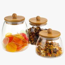 Décoration maison du café en verre Verre Jar Jar Jar Jar alimentaire en verre de thé