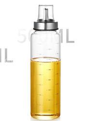 Cocina Condimentos de aceite Frasco de vidrio hermético bote