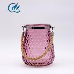 Florero de vidrio de color de la Ronda del cilindro