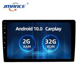 """Jmance 2DIN Ahd Carplayのアンドロイド10のカーラジオ2.5D 10 """" MaltimediaステレオDSP及びRDSアンドロイド/Iosのための2GB + 32GB車のDVDプレイヤー"""