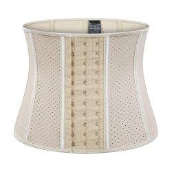 Custom transpirable de látex 100% de acero de 9 Corsé deshuesada Bodysuit formador de la cintura para dama