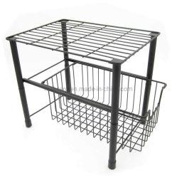 2 Уровень наращиваемые коммутаторы для монтажа в стойку для хранения под раковиной кабинета Caddy организатор со сдвижной ящик для хранения на кухне в ванной комнате управления