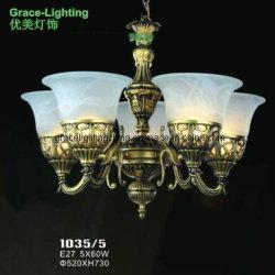La decoración de la fábrica de Iluminación lámpara colgante lámpara de araña de cristal