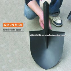 Schwarzer Plastik gesprühter spitzer Spaten des Garten-M-06