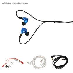 OEM à armature équilibrée haute résolution Knowles 6 +1 dynamique de la cavité de métal de l'anc écouteurs Bluetooth