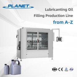 1-5L Prezzo Produttore tappatura ed etichettatura automatica linea di produzione Per olio lubrificante per motori macchina automatica per riempimento di bottiglie