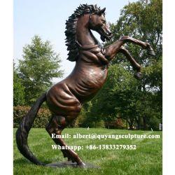 كبيرة حديقة برونز حصان حجر السّامة تمثال صغير