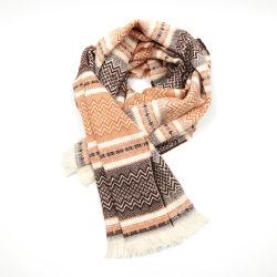 Inverno moda Jacquard pesados Espinha de lenços de papel unissexo Caxemira Mulheres Homens Longo Xale Cachecol