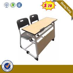 Asiento de una sola sala de estudio de teca Mobiliario Escolar mesas y sillas de Estudiante