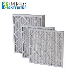 Kundenspezifisches Merv 8/9/10/11/12/13 Papperahmen gefalteter Wechselstrom-Ofen-vor Filter-Ineinander greifen HVAC-Luftfilter