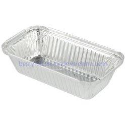 Heavy Duty rectangular de aluminio desechables ollas de aluminio con tapa cubre la bandeja de almacenamiento de alimentos de estaño reciclables Extra-Sturdy recipientes para cocinar, hornear, la comida, Takeout Prep.