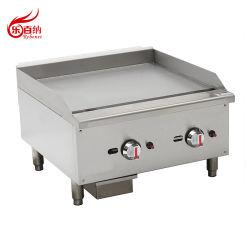 Professional Encimera plato llano comal asador de gas en acero inoxidable Equipos de comida rápida (huevo-24SX)